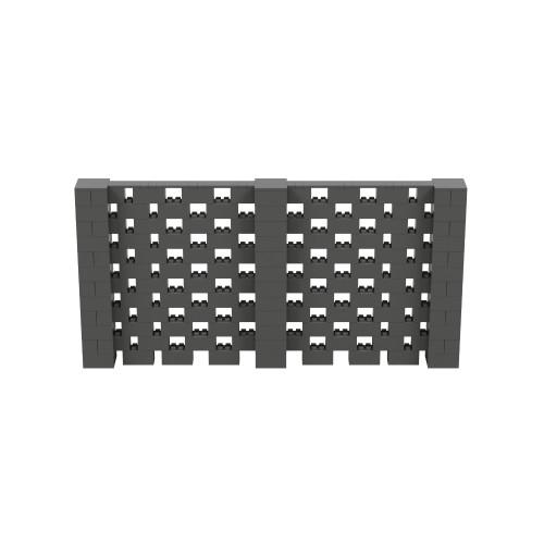 12' x 6' Dark Gray Open Stagger Block Wall Kit