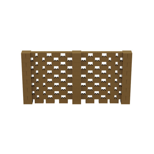 12' x 6' Gold Open Stagger Block Wall Kit