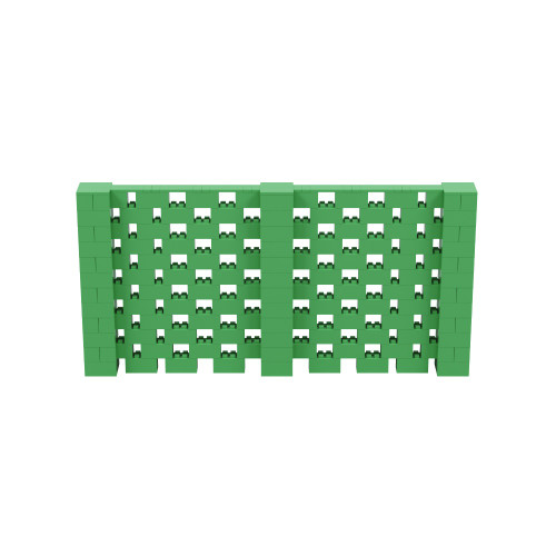 12' x 6' Green Open Stagger Block Wall Kit