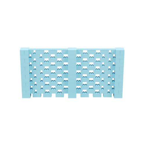 12' x 6' Light Blue Open Stagger Block Wall Kit