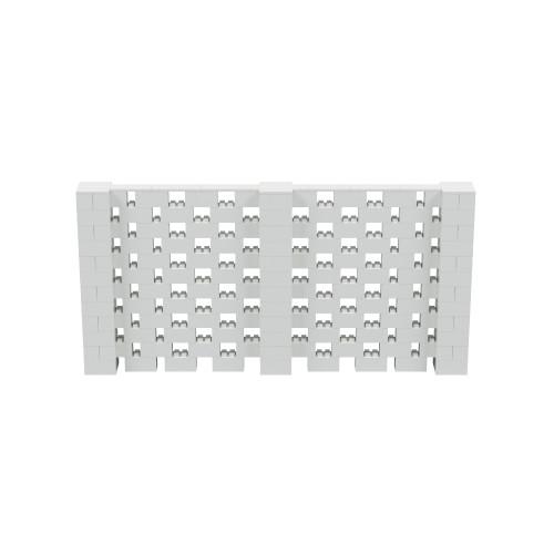 12' x 6' Light Gray Open Stagger Block Wall Kit