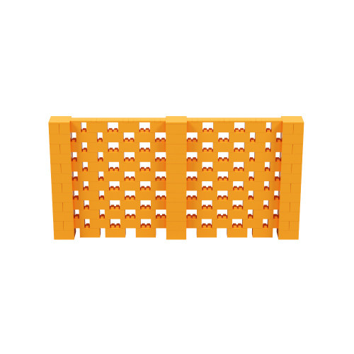 12' x 6' Orange Open Stagger Block Wall Kit