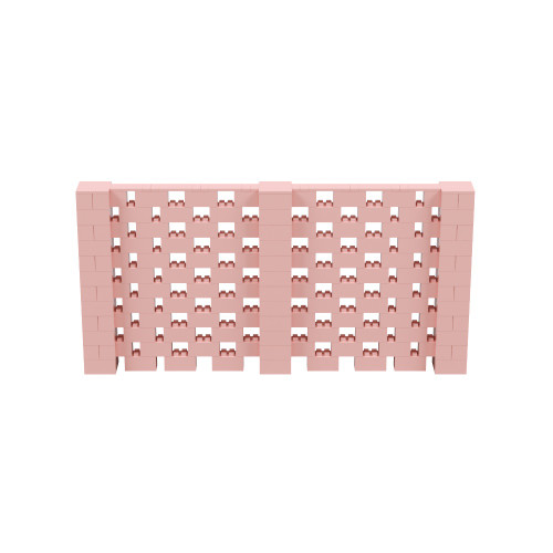 12' x 6' Pink Open Stagger Block Wall Kit