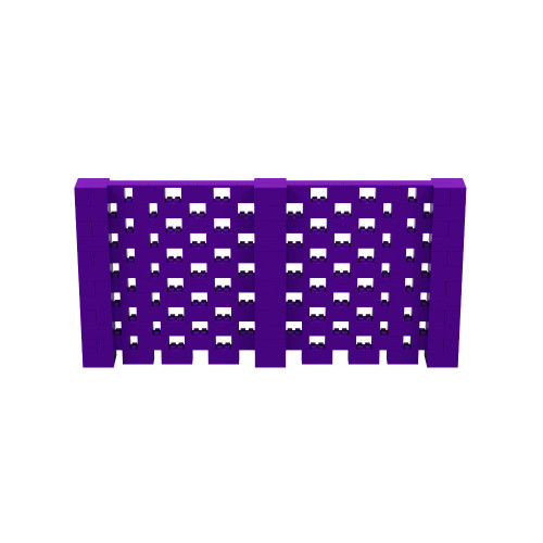 12' x 6' Purple Open Stagger Block Wall Kit