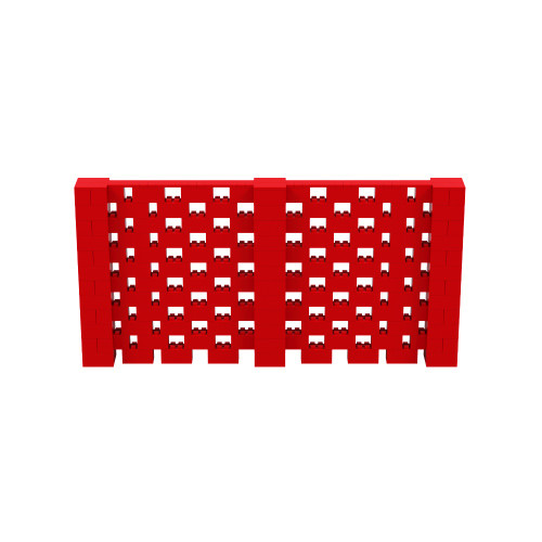 12' x 6' Red Open Stagger Block Wall Kit