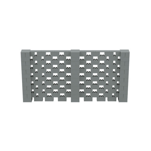 12' x 6' Silver Open Stagger Block Wall Kit