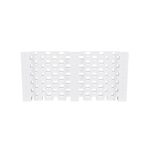12' x 6' White Open Stagger Block Wall Kit