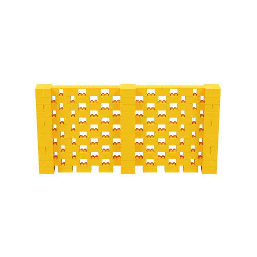 12' x 6' Yellow Open Stagger Block Wall Kit