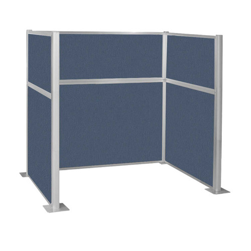 Pre-Configured Hush Panel Cubicle (U Shape) 6' x 4' Ocean Fabric