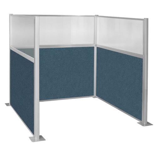 Pre-Configured Hush Panel Cubicle (U Shape) 6' x 6' W/ Window Caribbean Fabric