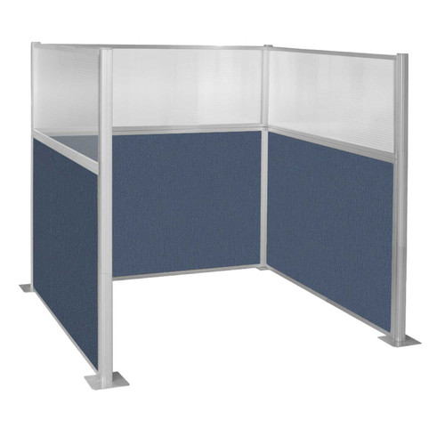 Pre-Configured Hush Panel Cubicle (U Shape) 6' x 6' W/ Window Ocean Fabric