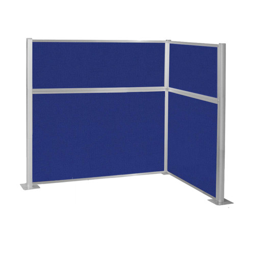 Pre-Configured Hush Panel Cubicle (L Shape) 6' x 4' Royal Blue Fabric