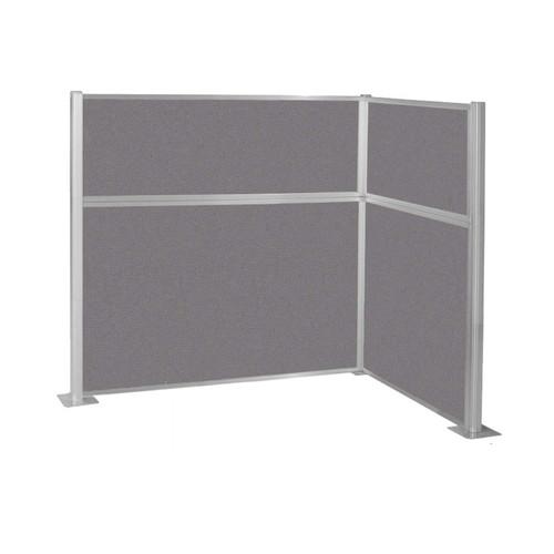 Pre-Configured Hush Panel Cubicle (L Shape) 6' x 4' Slate Fabric