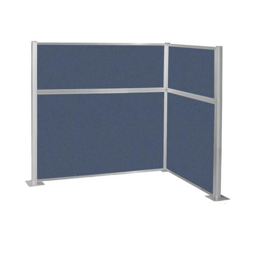 Pre-Configured Hush Panel Cubicle (L Shape) 6' x 4' Ocean Fabric