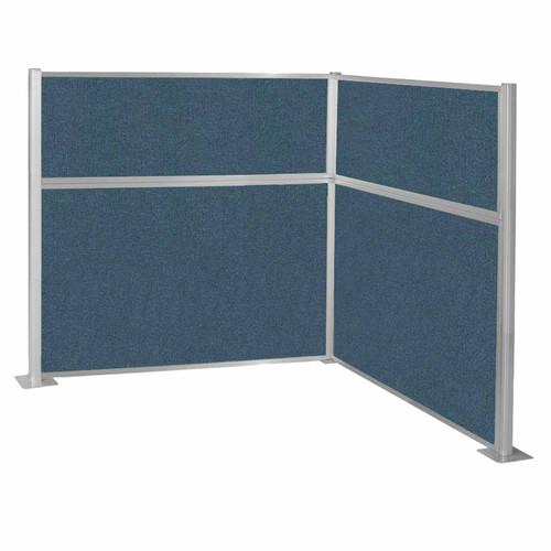 Pre-Configured Hush Panel Cubicle (L Shape) 6' x 6' Caribbean Fabric