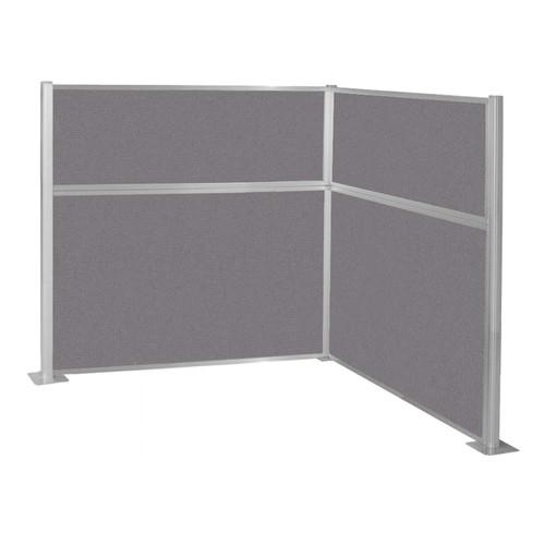 Pre-Configured Hush Panel Cubicle (L Shape) 6' x 6' Slate Fabric