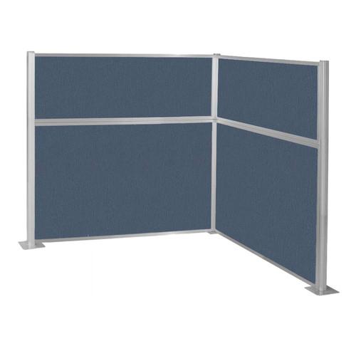 Pre-Configured Hush Panel Cubicle (L Shape) 6' x 6' Ocean Fabric