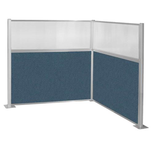 Pre-Configured Hush Panel Cubicle (L Shape) 6' x 6' W/ Window Caribbean Fabric