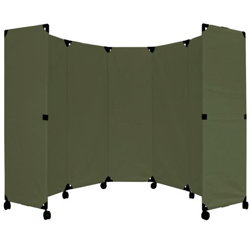 MP10 Economical Folding Portable Partition 10' x 6' Olive Canvas