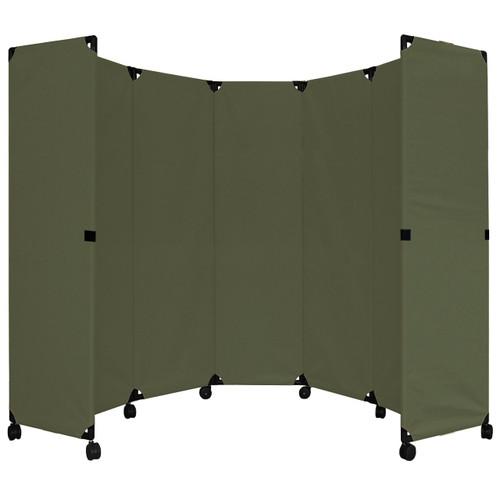 """MP10 Economical Folding Portable Partition 10' x 6'10"""" Olive Canvas"""