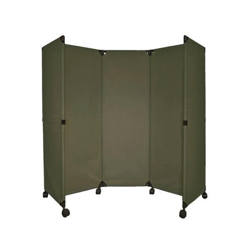 MP10 Economical Folding Portable Partition 6' x 6' Olive Canvas