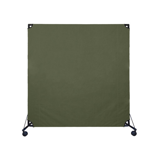 VP6 Rolling Room Partition 6' x 6' Olive Canvas