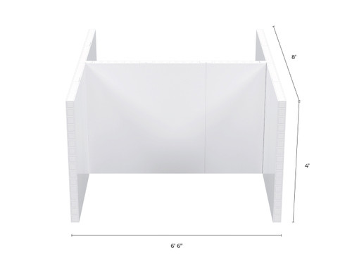 """EverPanel 2 Space Office Cubicle Kit - 6'6"""" x 8' x 4'"""