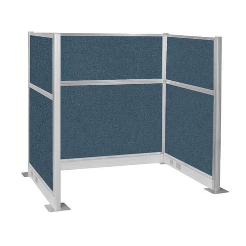 Pre-Configured Hush Panel Electric Cubicle (U Shape) 6' x 4' Caribbean Fabric