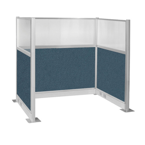 Pre-Configured Hush Panel Electric Cubicle (U Shape) 6' x 4' W/ Window Caribbean Fabric