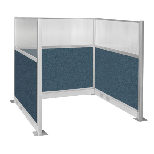 Pre-Configured Hush Panel Electric Cubicle (U Shape) 6' x 6' W/ Window Caribbean Fabric