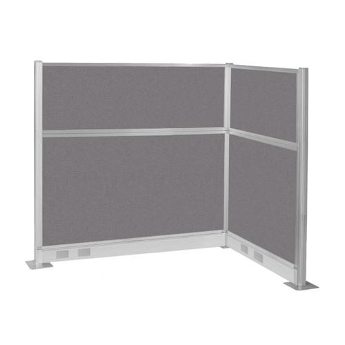 Pre-Configured Hush Panel Electric Cubicle (L Shape) 6' x 4' Slate Fabric