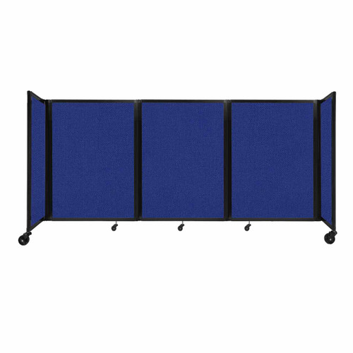 """Room Divider 360 Folding Portable Partition 8'6"""" x 4' Royal Blue Fabric"""