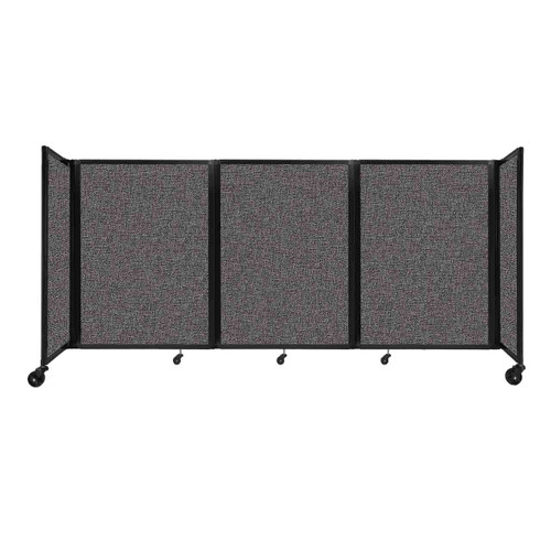 """Room Divider 360 Folding Portable Partition 8'6"""" x 4' Charcoal Gray Fabric"""