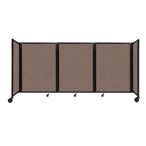 """Room Divider 360 Folding Portable Partition 8'6"""" x 4' Latte Fabric"""