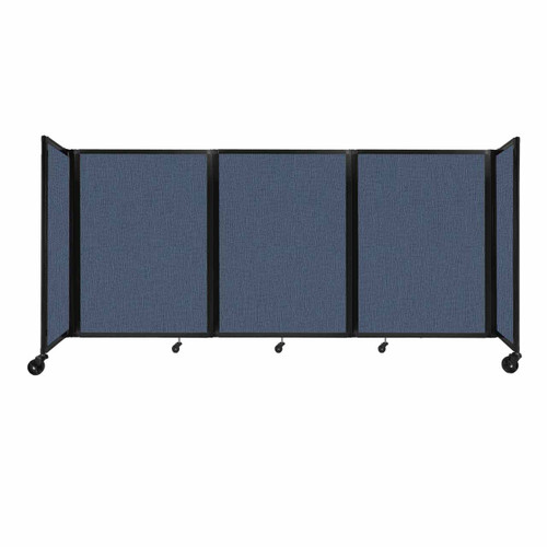 """Room Divider 360 Folding Portable Partition 8'6"""" x 4' Ocean Fabric"""