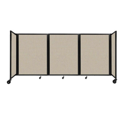 """Room Divider 360 Folding Portable Partition 8'6"""" x 4' Sand Fabric"""