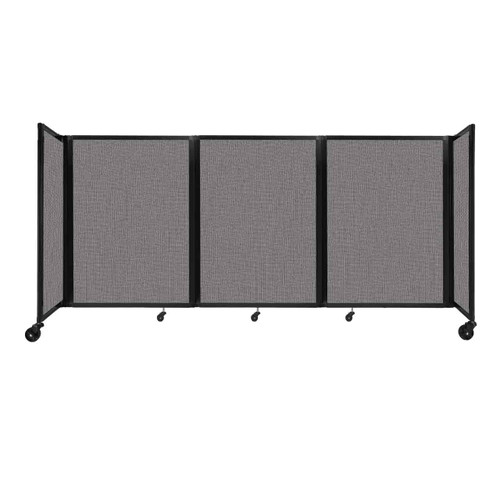 """Room Divider 360 Folding Portable Partition 8'6"""" x 4' Slate Fabric"""