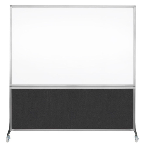 DivideWrite Portable Whiteboard Partition 6' x 6' Black Fabric