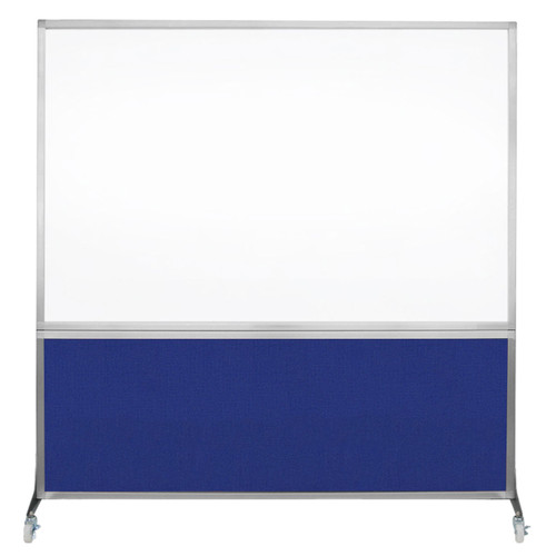 DivideWrite Portable Whiteboard Partition 6' x 6' Royal Blue Fabric