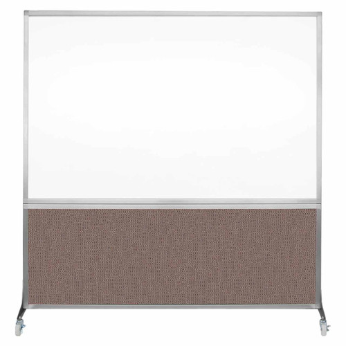 DivideWrite Portable Whiteboard Partition 6' x 6' Latte Fabric