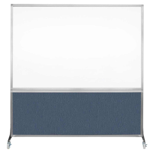 DivideWrite Portable Whiteboard Partition 6' x 6' Ocean Fabric