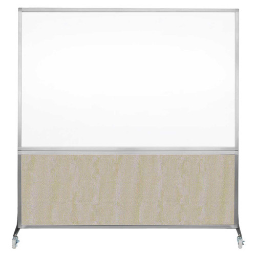 DivideWrite Portable Whiteboard Partition 6' x 6' Sand Fabric