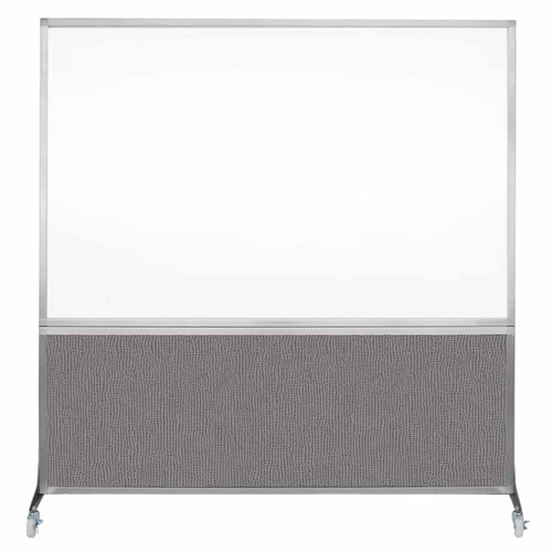 DivideWrite Portable Whiteboard Partition 6' x 6' Slate Fabric