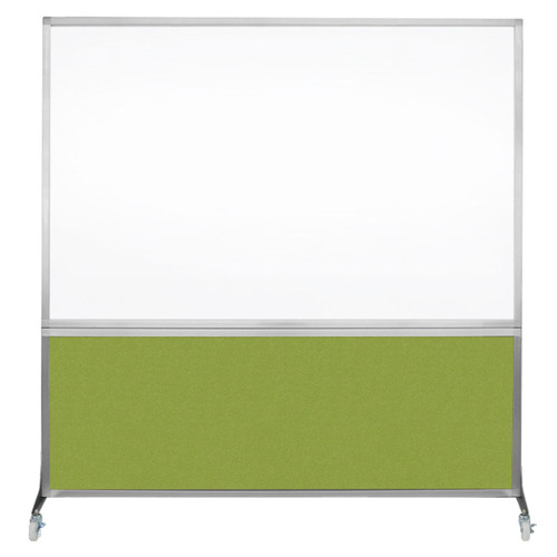 DivideWrite Portable Whiteboard Partition 6' x 6' Lime Green Fabric