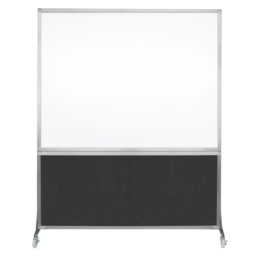 DivideWrite Portable Whiteboard Partition 5' x 6' Black Fabric