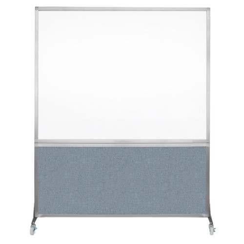 DivideWrite Portable Whiteboard Partition 5' x 6' Powder Blue Fabric