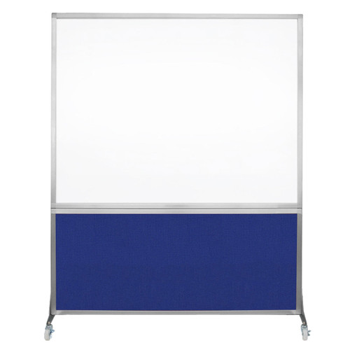 DivideWrite Portable Whiteboard Partition 5' x 6' Royal Blue Fabric