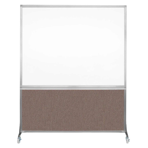 DivideWrite Portable Whiteboard Partition 5' x 6' Latte Fabric