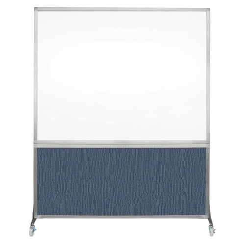 DivideWrite Portable Whiteboard Partition 5' x 6' Ocean Fabric