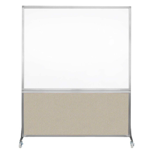 DivideWrite Portable Whiteboard Partition 5' x 6' Sand Fabric